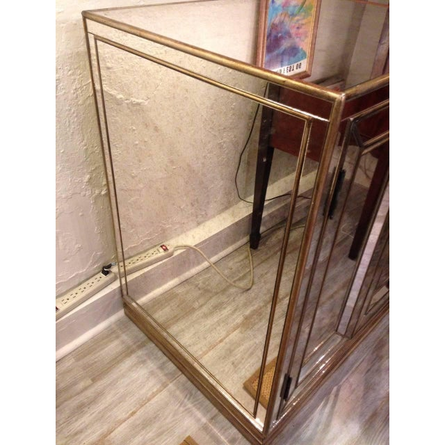 Antiqued Mirrored Cabinets - A Pair - Image 2 of 4