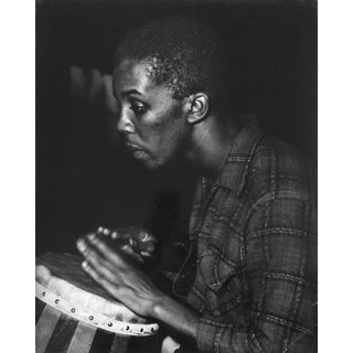 1963 Photograph of a Bongo player by Ruth McNitt