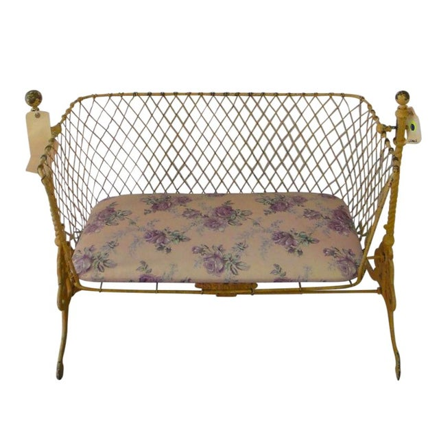 Antique Cradle Bench - Image 1 of 5