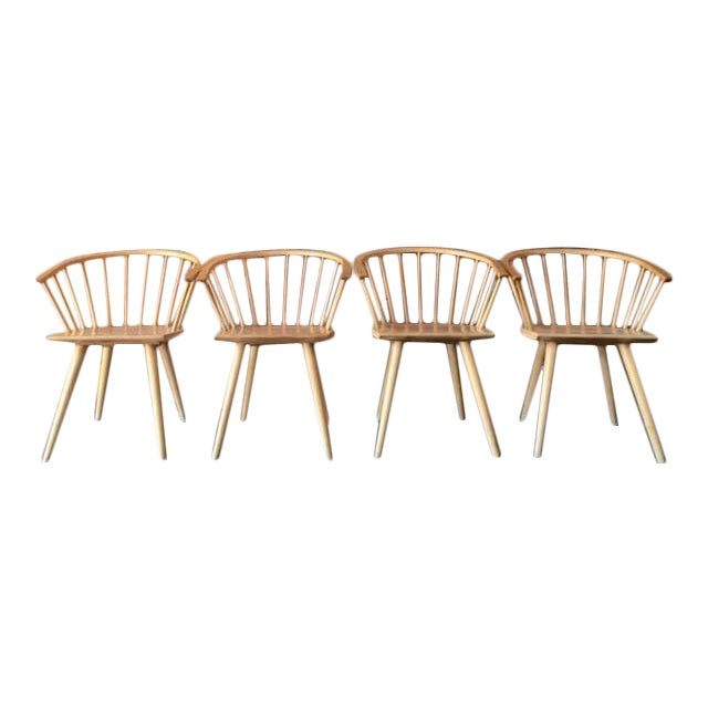 Mid Century Spindle Chairs - Set of 4 - Image 1 of 6