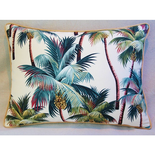 Designer Tropical Coconut Palm Tree Pillows - Pair - Image 7 of 10