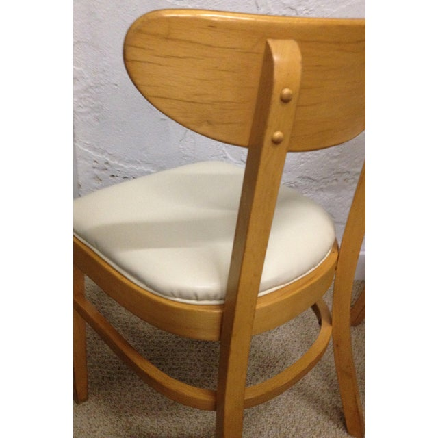 Image of Classic Bentwood Upholstered Cafe Chairs - A Pair