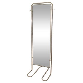 SPECTACULAR MODERNIST ART DECO FULL-LENGTH MIRROR BY LOUIS SOGNOT