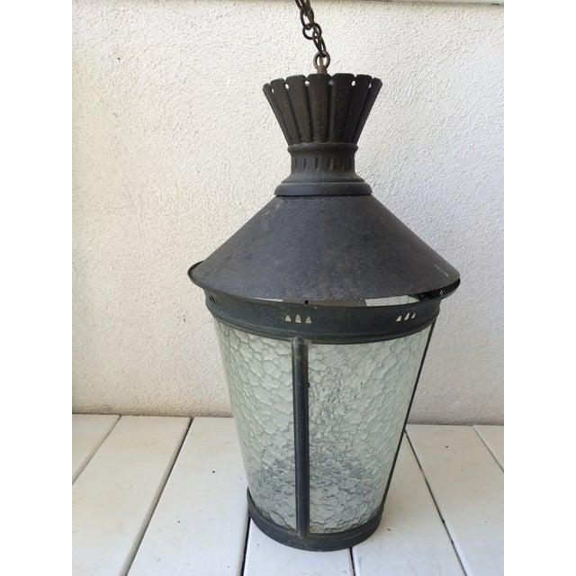 Image of Vintage Metal Hanging Light