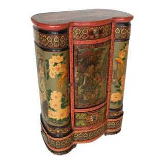 Petite Painted Chinese Cabinet