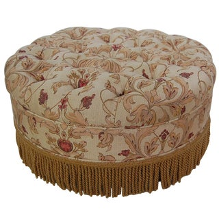 Anichini Oversized Tufted Round Ottoman