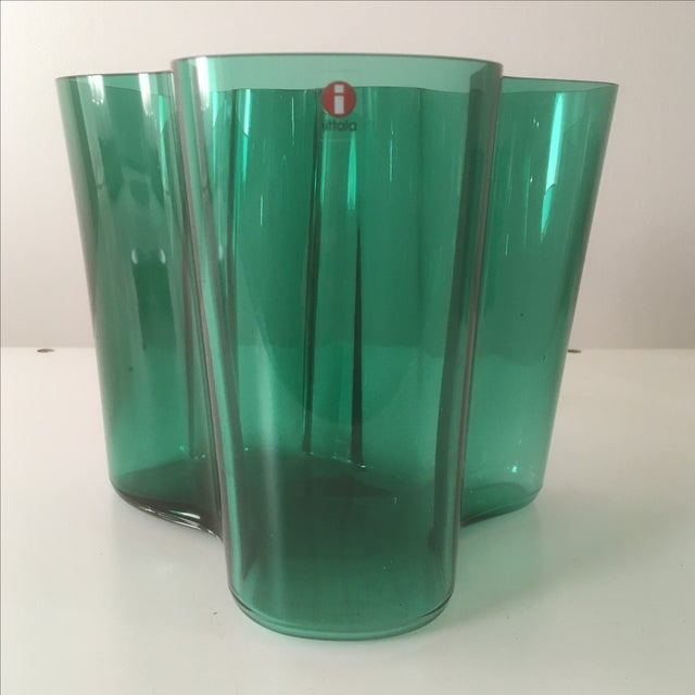 Iittala Short Emerald Green Aalto Vase - Image 2 of 5