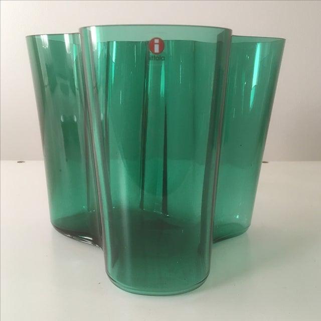 Image of Iittala Short Emerald Green Aalto Vase