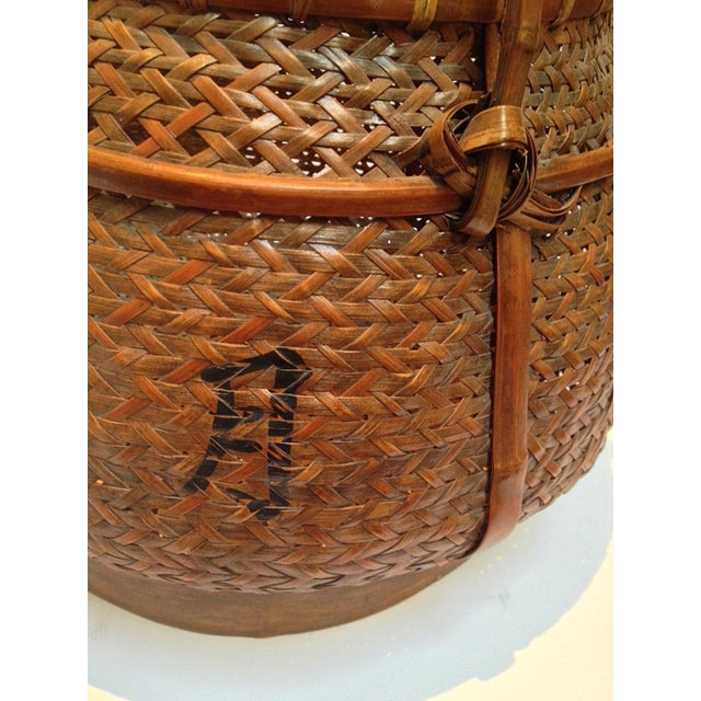 Hand Woven Japanese Basket - Image 3 of 9