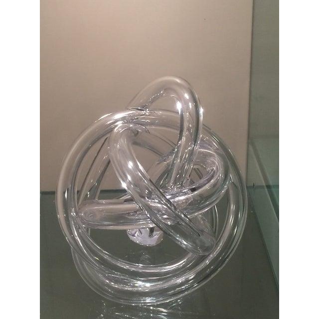 Ethan Allen Czech Glass Sculpture - Image 3 of 5