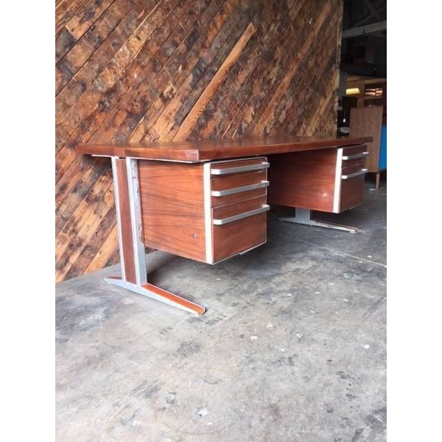 Vintage Cantilevered Executive Desk - Image 10 of 11
