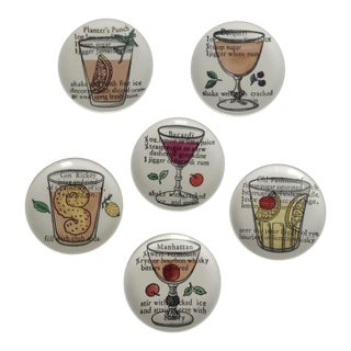 Piero Fornasetti Drinks Coasters - Set of 6