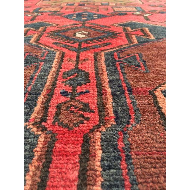 "Vintage Persian Zanjan Area Rug - 3'4""x4'6"" - Image 6 of 8"