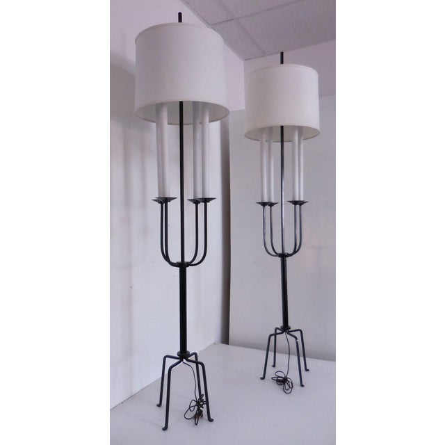 Image of Tommi Parzinger Mid-Century Floor Lamps - A Pair
