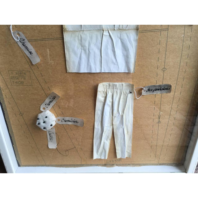 French Salesman's Fashion Samples Framed - Image 4 of 6