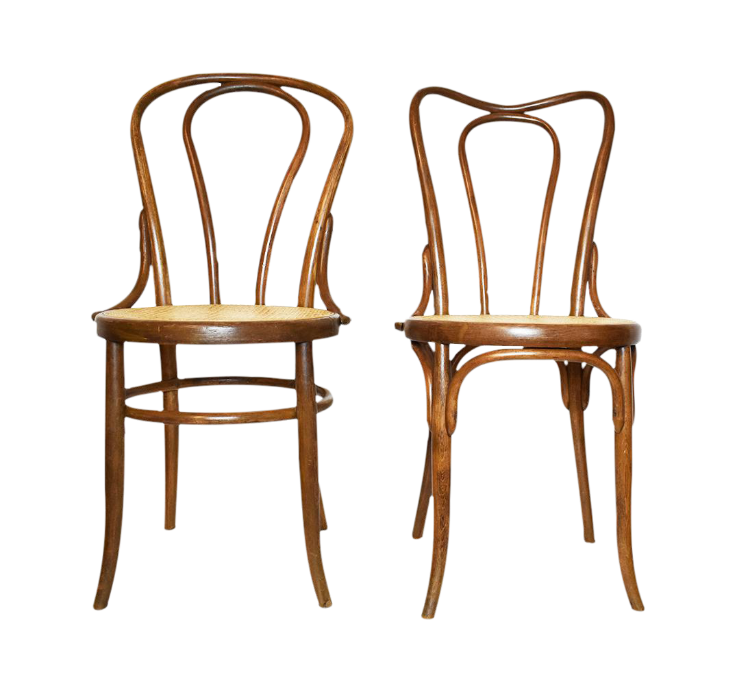 Great Antique Bentwood Chairs In The Style Of Michael Thonet Or Fischer  A Pair