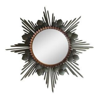 Round Bronze Starburst Mirror
