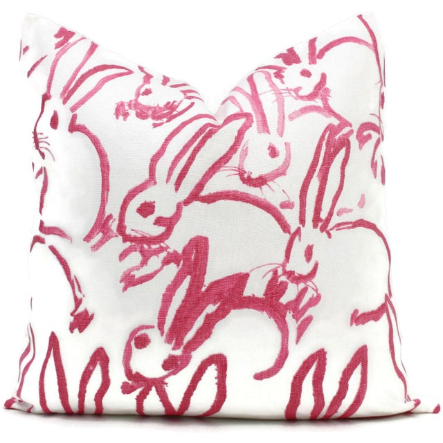 Lee Jofa Groundworks Hutch Pink Bunny Pillow - Image 2 of 7