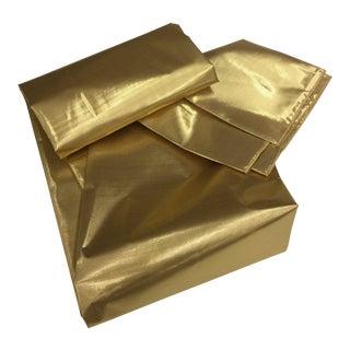 Gold Metallic Oblong Tablecloth