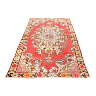 Antique Handwoven Anatolian Rug - 4′8″ × 7′8″