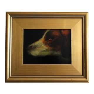 Sporting Hound Pointer Dog Oil Portrait