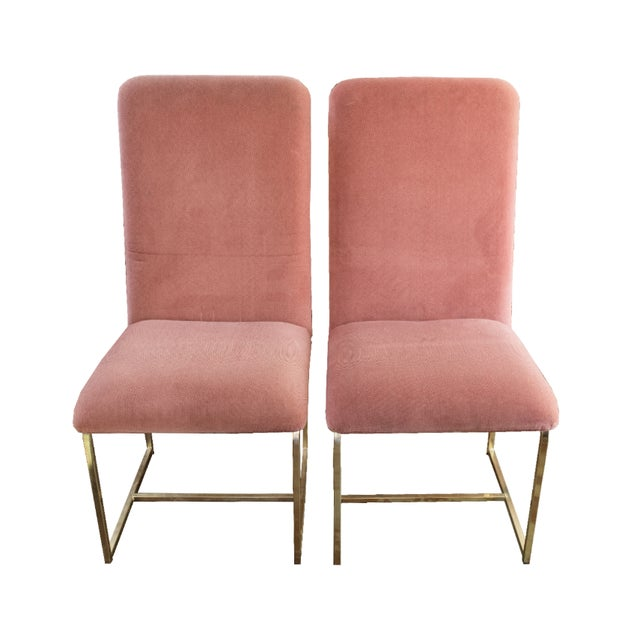 D.I.A. Brass Chairs by Milo Baughman - A Pair - Image 1 of 4