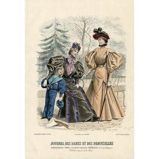 1888 French Fashion Print