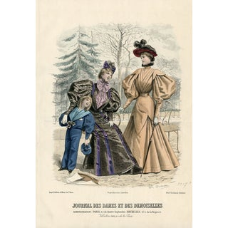 1888 French Fashion Print