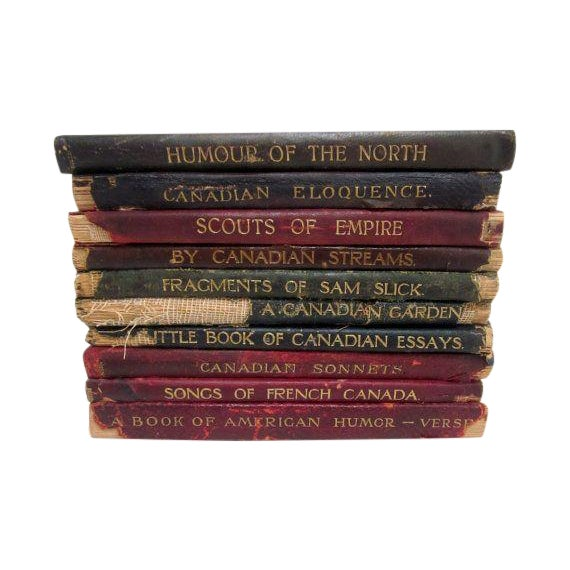 Vintage Leather Poetry Books - Set of 9 - Image 1 of 3