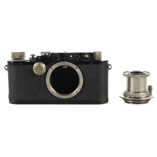 1930s Leica III Black Camera With 5cm Elmar Lens - Image 5 of 10