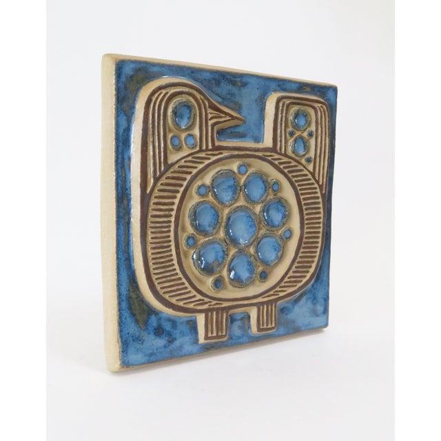 Vintage Bornholm Glazed Decorative Tile - Image 3 of 5