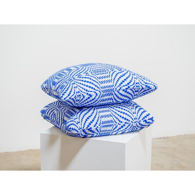Geometric Cushion Knitting Pattern : Vintage Knit Geometric Pillows Chairish