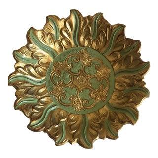 Vintage Gilded Florentine Bowl