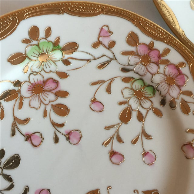 Mid-Century Asian Butterfly Plates - Set of 4 - Image 9 of 10