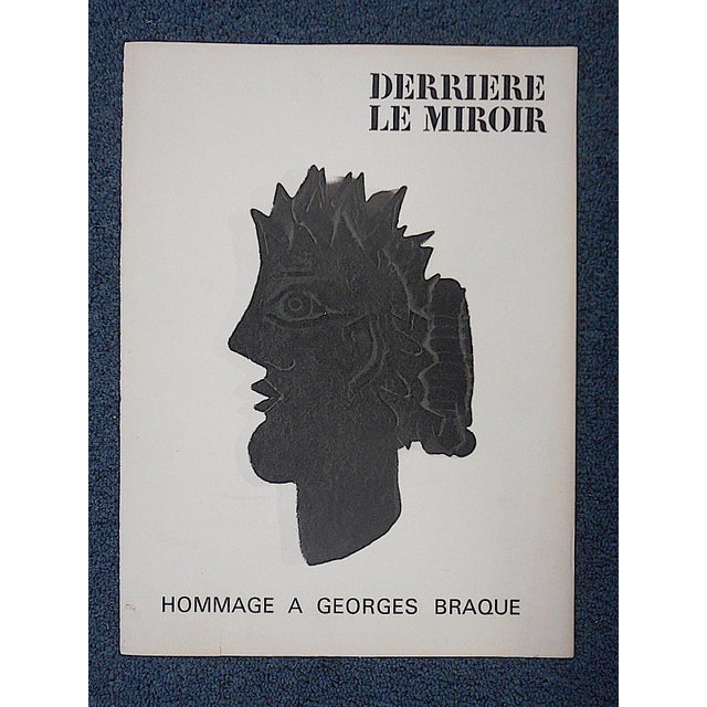 Vintage braque lithograph derriere le miroir chairish for Miroir vanguard