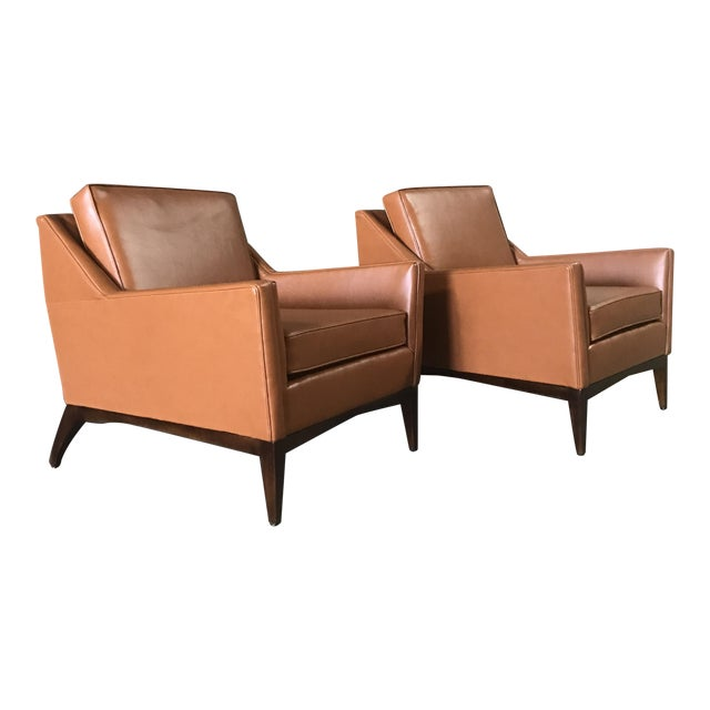 Mid-Century Modern Lounge Chairs - A Pair - Image 1 of 9