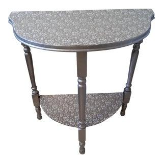 Silver Demi-Lune Table