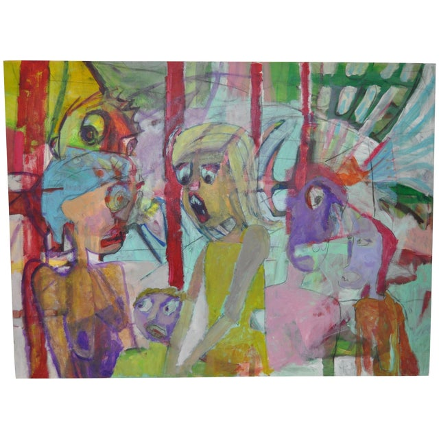 Image of Contemporary Abstract Family Painting
