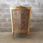 Image of French Louis XVI Chairs Gold Leaf Floral - Pair