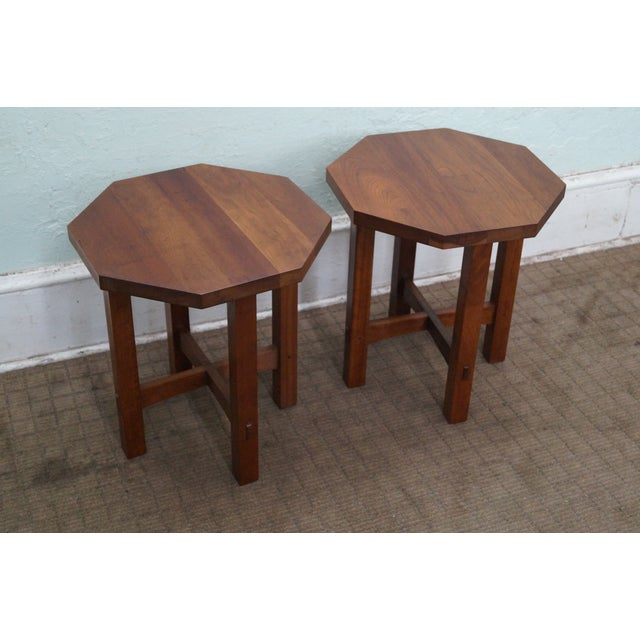 Image of Stickley Mission Style Cherry Side Tables (B)