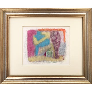 Vintage Abstract Post Impressionist Pastel Drawing