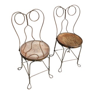Chicago Wire Chair Company Ice Cream Parlor Chairs - A Pair