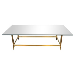 Mid-Century Brass Coffee Table