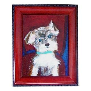 Dog Portrait in Acrylic