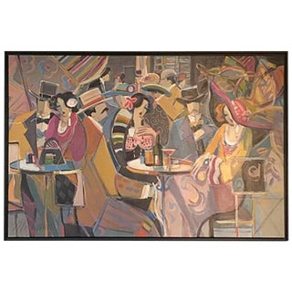 "Original Isaac Maimon Signed ""Sharing Great Times"""