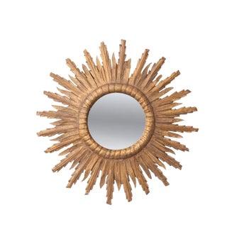 French 19th Century Gold Gilt Starburst Mirror
