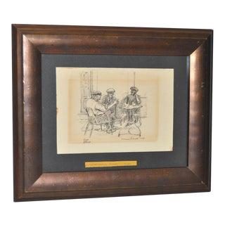 Original Pen & Ink Drawing by Warren Brandt