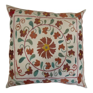 19th C. Suzanni Embroidery Pillow