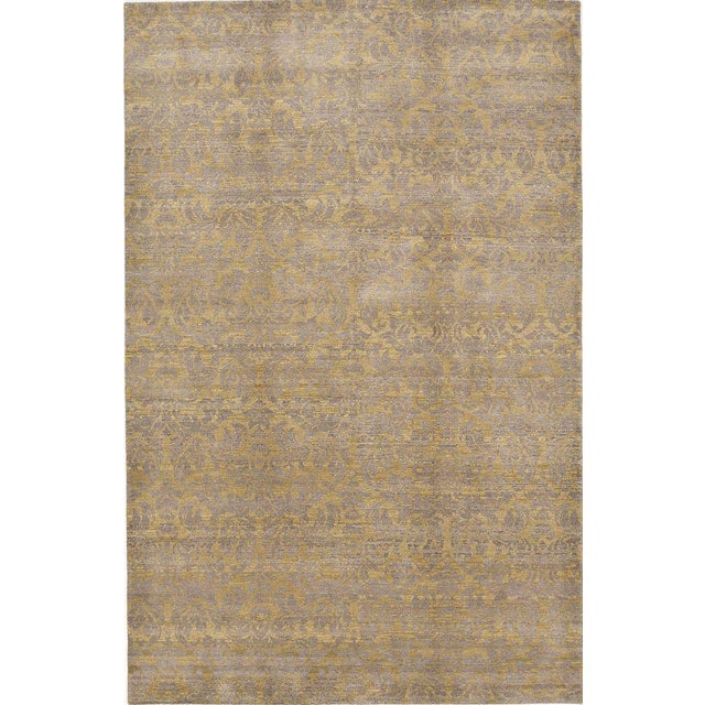 Image of Hand-Knotted Contemporary Rug - 6'x 9'5""