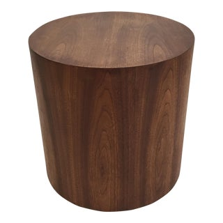 Mid-Century Drum Shape Side Table